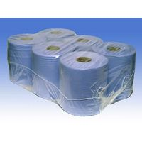 2 ply blue centrefeed roll - 6 rolls of 130m