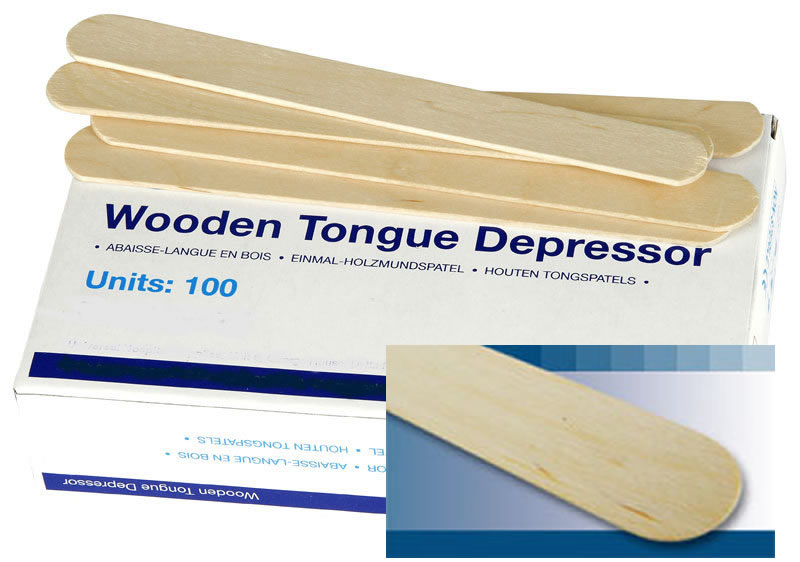 Uhs Wooden Tongue Depressors In Box Of 100 By Gloves4less